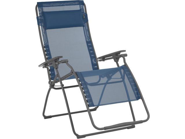 Lafuma mobilier futura xl sgabello pieghevole batyline grigio blu su